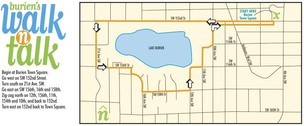 WABI Burien's Socially Distanced Lake Burien Walk-n-Talk will be this Sunday, Dec. 6 1