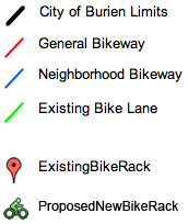 Bike Rack Map Key