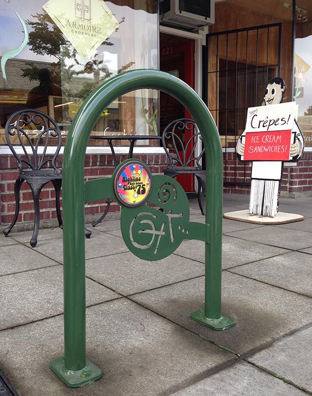 WABI Burien's Downtown Burien Bike Rack project wraps up 8