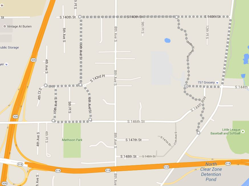 map-Miller Creek Trail