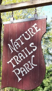 Nature Trails sign narrow crop