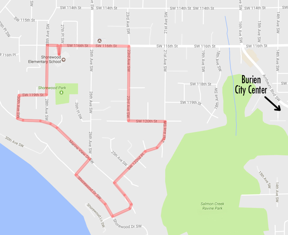 WABI-North Burien Map