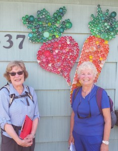 Barb and Karin from Seattle Striders scout out the Burien trail.